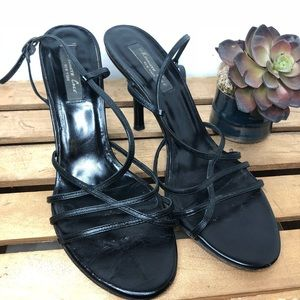 Kenneth Cole black strappy heels 10